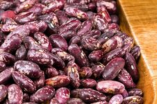 Free Kidney Beans In Wooden Dish Stock Image - 8418951