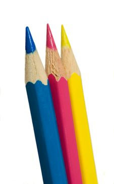 Free C-M-Y Pencils Royalty Free Stock Images - 8418959