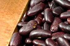 Kidney Beans In Wooden Dish Stock Image