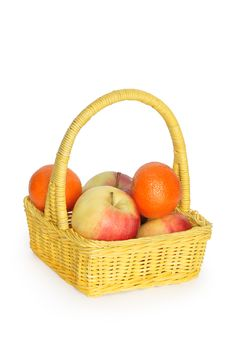 Free Basket With Fruits Stock Images - 8419484
