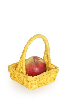 Free Basket With Apple Royalty Free Stock Photos - 8419528