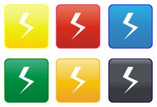 Free High Voltage Web Button Stock Image - 8419601