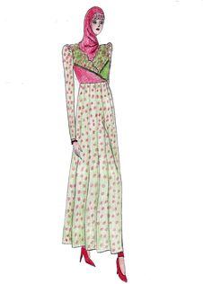 Free Beautiful Illustration Of Moslem S Fashion Stock Images - 8419624