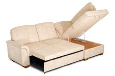 Free Open Bright Sofa With An Open Box Stock Images - 8419634
