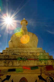 Free Day View Of Stupa At Deqing Sichuan Province China Royalty Free Stock Images - 8419809