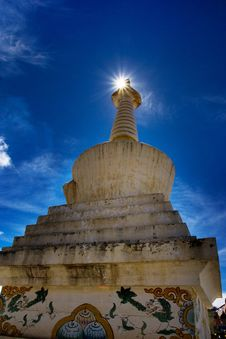 Free Day View Of Stupa At Deqing Sichuan Province China Stock Photos - 8419813