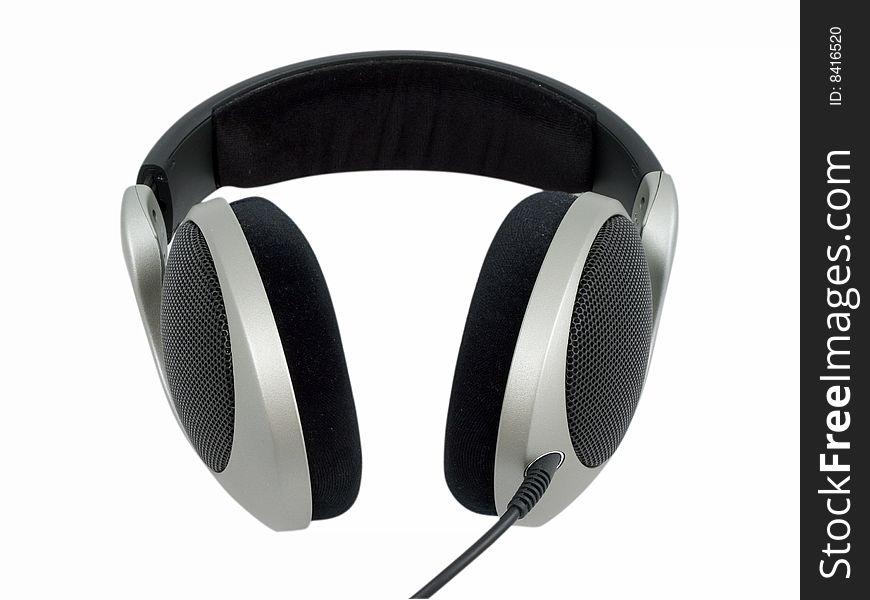 Hi-Fi headphones isolated on white