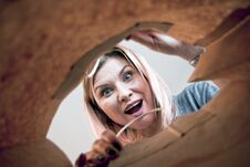 Free Surprised Woman Royalty Free Stock Photo - 84123555