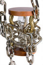 Free Hourglass With Chain Royalty Free Stock Photos - 8421668