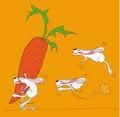 Free Rabbit Race Royalty Free Stock Photography - 8427387
