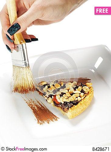 Free Stroke Of The Chocolate Brush Stock Image - 8428671