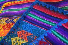 Peruvian Hand Made Texture Stock Image