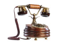 Isolated Old-fashioned Phone Stock Photos