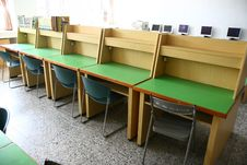 Free Library Desks Stock Photography - 8421672