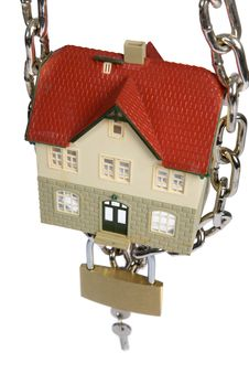 Free House  Locked With Padlock Stock Photo - 8421900