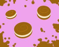 Jumping Cookies_Pink Royalty Free Stock Photos