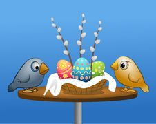 Free Easter And Birds Royalty Free Stock Image - 8422956
