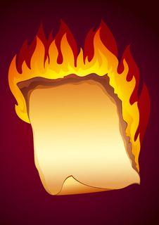 Free Burning Paper Background Stock Photo - 8423240