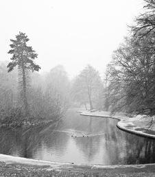 Free English Winter Park Lake Stock Photos - 8423373