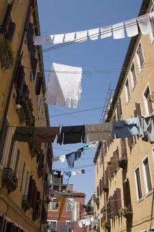 Free Washday Venice Italy Stock Photography - 8423392