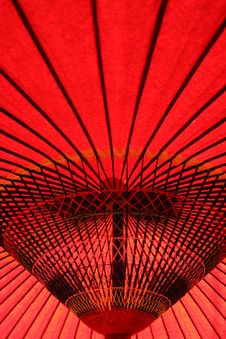 Free A Traditional Red Umbrella Royalty Free Stock Photos - 8423398