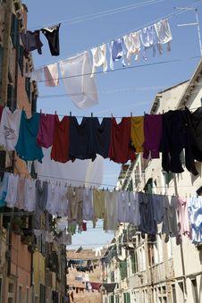 Free Washday Venice Italy Stock Photo - 8423410