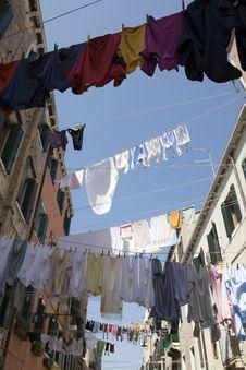 Free Washday Venice Italy Royalty Free Stock Photo - 8423455