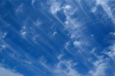Free Sky With Stripes Royalty Free Stock Images - 8423459