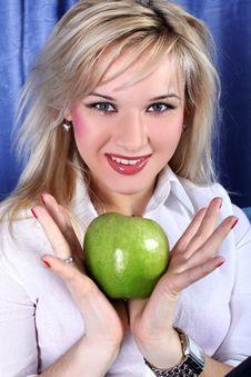 Free Girl With Apple Stock Images - 8423474