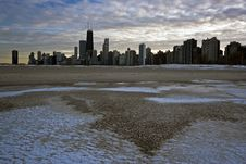 Free Sunset In Chicago Stock Photography - 8423712