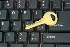 Free Key On Keyboard Stock Images - 8423784