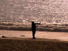Free Sunset Fishing Stock Photo - 8424370