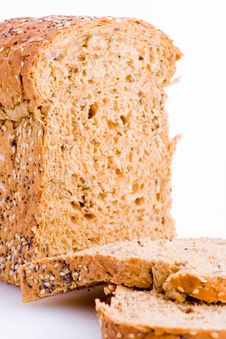 Wholemeal Loaf With Slices Stock Photography