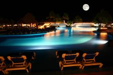 Free A Luxury All Inclusive Beach Resort At Night Stock Photos - 8424903