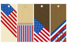 Free Four Usa Wooden Labels Stock Images - 8425464