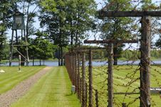 Lake And Fence Stock Photos