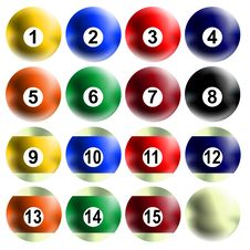 Free Billiard Balls Stock Photography - 8425882