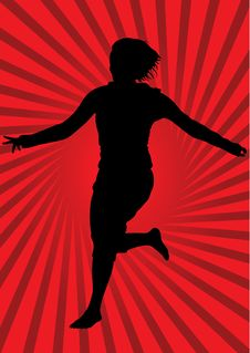 Free Girl On Red Background Stock Photos - 8426073