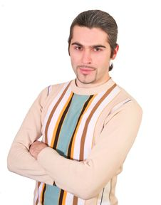 Young Handsome Male In Sweater Isolated Royalty Free Stock Photos
