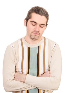 Free Disappointed Young Handsome Man In Sweater Royalty Free Stock Image - 8426196