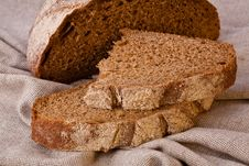 Sliced Rustic Brown Bread Royalty Free Stock Image