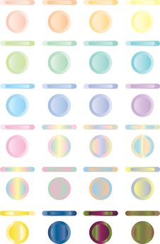 Button, Set Of Light Buttons Of Red, Blue, Green.. Royalty Free Stock Image