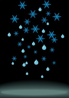 Snowflakes And Spots Royalty Free Stock Images