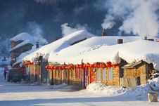 Free Houses  Covered In Snow,in Winter Stock Photo - 8426700