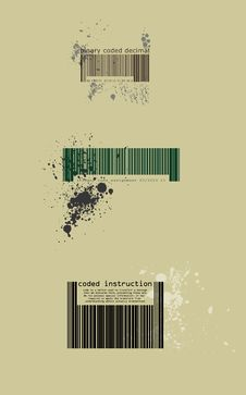 Colour Barcode Royalty Free Stock Photography