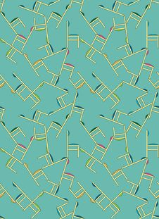 Free Seamless Wallpaper, Chaos Of Chairs Stock Image - 8426851