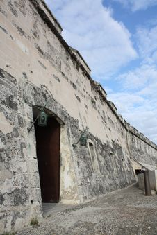 Free Morro Castle Wall With Two Old Lamps Stock Photos - 8427583
