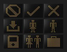 Free Led Effect Icons Formed By Balls Royalty Free Stock Photo - 8427685