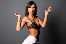 Free Seductive Girl In Underwear Royalty Free Stock Photography - 8427827