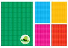 Free Background In The Cell And A Green Hat Stock Photo - 8427980